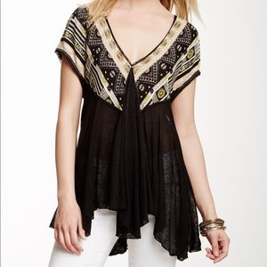 free people black we are golden tunic size large